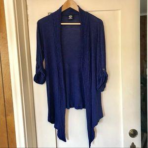 Bobeau lightweight cardigan, blue, medium